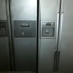 Two Silver Fridge Freezers